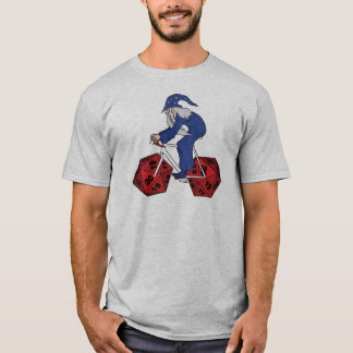 Wizard Riding Bike With 20 Sided Dice Wheels T-Shirt