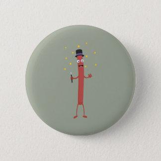 Wizard Sausage Z3hqx 6 Cm Round Badge