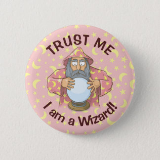 Wizard with Ball 6 Cm Round Badge