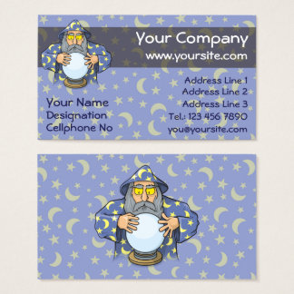 Wizard with Ball Business Card