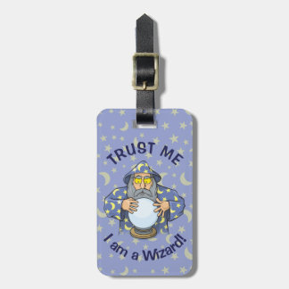 Wizard with Ball Luggage Tag