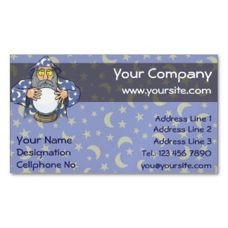 Wizard with Ball Magnetic Business Card