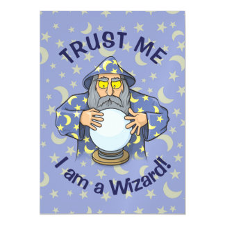 Wizard with Ball Magnetic Invitations