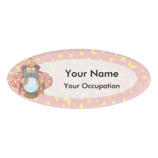 Wizard with Ball Name Tag