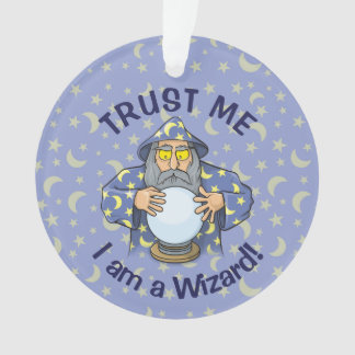 Wizard with Ball Ornament