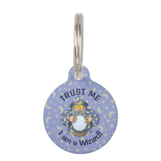 Wizard with Ball Pet Name Tag