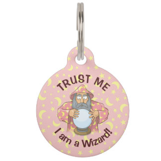 Wizard with Ball Pet Tag