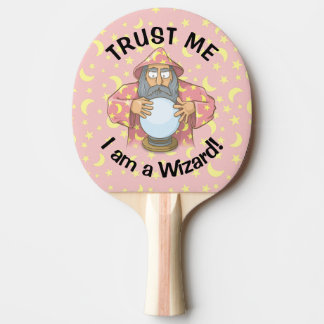 Wizard with Ball Ping Pong Paddle