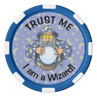 Wizard with Ball Poker Chips
