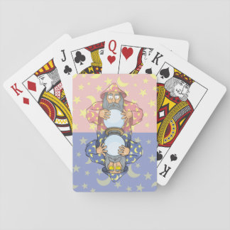 Wizard with Ball Poker Deck