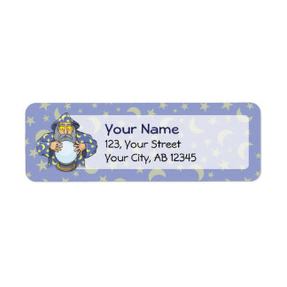 Wizard with Ball Return Address Label