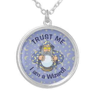 Wizard with Ball Silver Plated Necklace