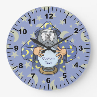 Wizard with your face clock