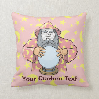 Wizard with your face cushion