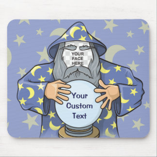 Wizard with your face mouse pad