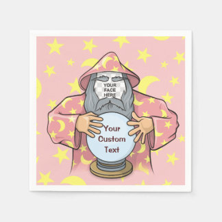 Wizard with your face paper serviettes