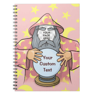Wizard with your face spiral notebook