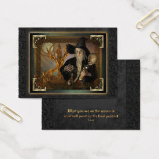 Wizards Magic Fantasy Illustration ACEO Business Card