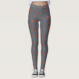 WIZARD'S STARS AND MOONS by Slipperywindow Leggings