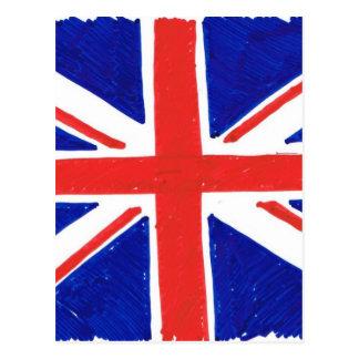 WJ UK flag Postkarten