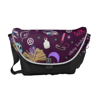 WK #ModernWitchLife Purple Print Overnight Bag Courier Bag