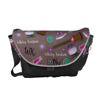 WK #ModernWitchLife Taupe Print Overnight Bag Courier Bag