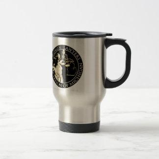 WLAM Travel mug, stainless, black logo Stainless Steel Travel Mug