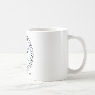 WLAM White coffee mug, blue logo Basic White Mug