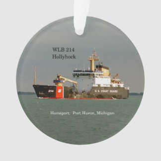 WLB 214 Hollyhock acrylic ornament