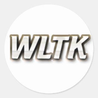 WLTK ROUND STICKER