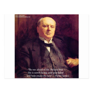 "Wm James ""Life Worth Living"" Wisdom Quote Gifts Postcard"