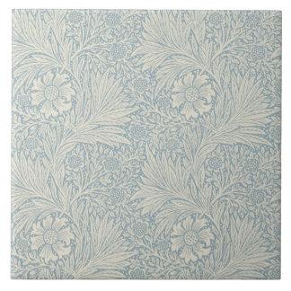 Wm Morris Blue Marigold Repro Arts+Crafts Tile