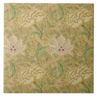 Wm Morris Classic Windrush Design Gold Multi Tile