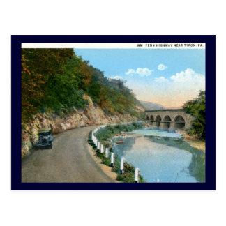 Wm. Penn Highway, Tyron PA Vintage Postcard