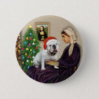 WMom Xmas (R) - English Bulldog 1 6 Cm Round Badge