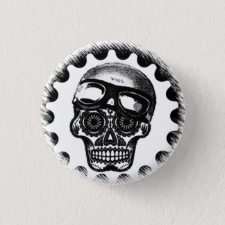 W'nR'n Sugar Skull Cafe Racer 3 Cm Round Badge