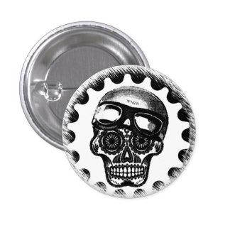 W'nR'n Sugar Skull Cafe Racer 3 Cm Round Badge