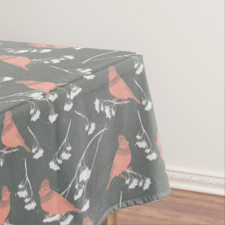 Wnter birds pattern - Christmas gifts Tablecloth