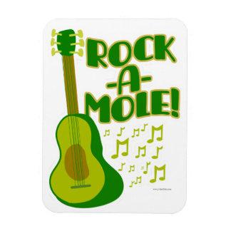 Woah Rock-a-Mole Rectangular Photo Magnet