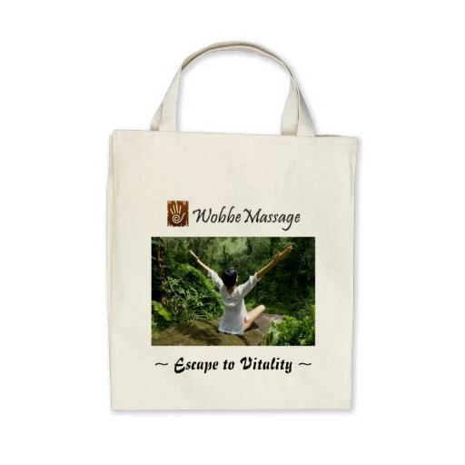 WobbeMassage Organic Grocery Tote Canvas Bags