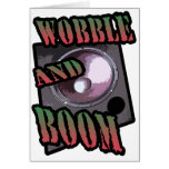 wobble and boom Dubstep Greeting Card