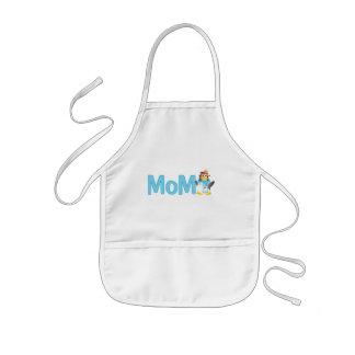 Wobble Penguin Gift for Mom - Kids Apron