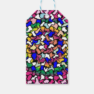 Wobbly Vibrant Tiles Gift Tags