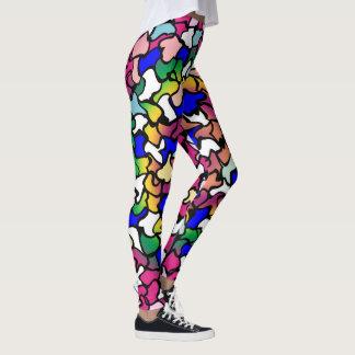 Wobbly Vibrant Tiles Leggings