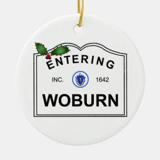 Woburn MA Ceramic Ornament