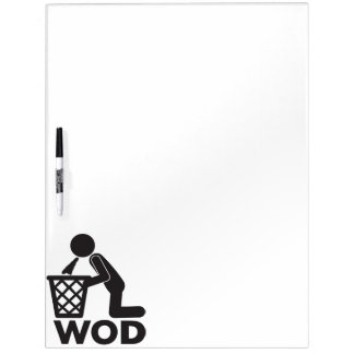 WOD Fitness Workout - Puke Dry Erase Board