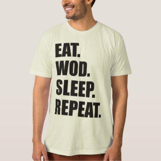 WOD Motivation - Eat, WOD, Sleep, Repeat T-Shirt