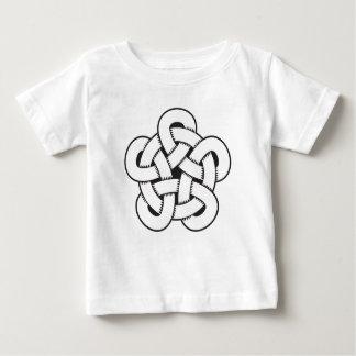 wodcut style quintuple knot baby T-Shirt
