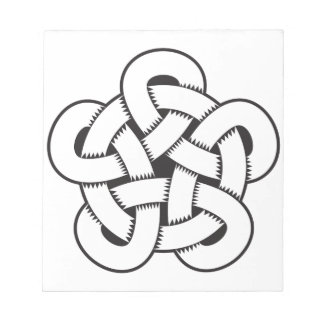wodcut style quintuple knot notepad