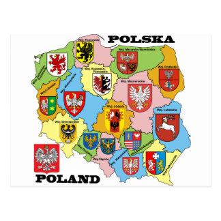 Wojewodztwa Polski_mapa Postcards